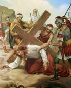 Via Crucis - Stazione 7 - Gesù cade per la seconda volta